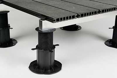 adjustable pedestals with composite decking
