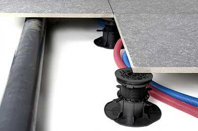 adjustable pedestals with tiles