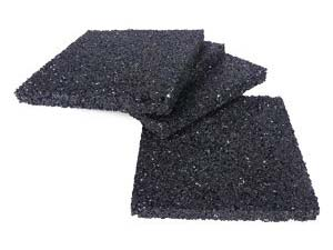 Rubber protection pads for decking joists