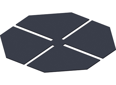 A sound-absorbing and leveling rubber pad