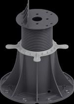 Adjustable pedestal for decking joists