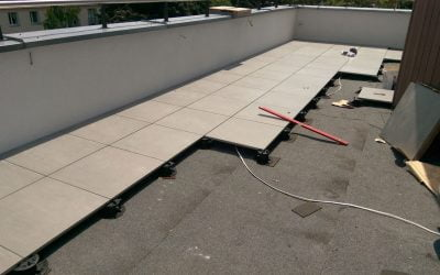 How did we repair a terrace of 80m2 using a simple technology?