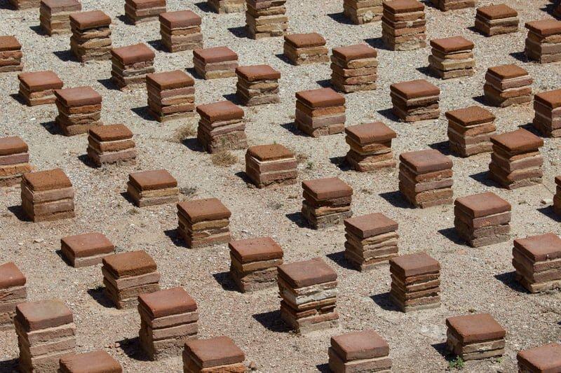 Patio flooring in antiquity