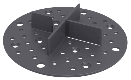 2 mm paving supports, dry installation - black