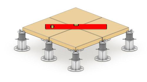 Równa powierzchnia tarasu wentylowanego