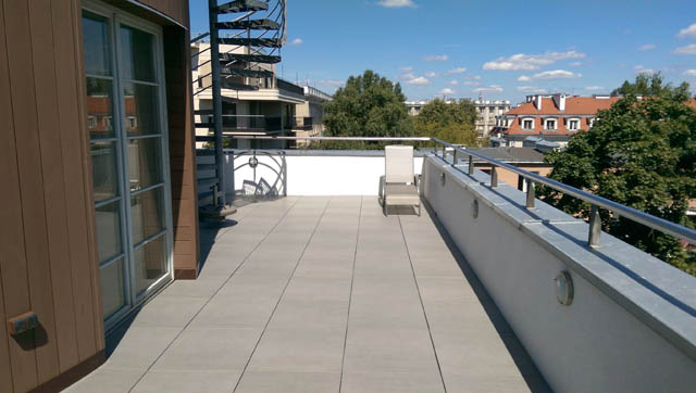 Terrace repair with ventilated terraces technology