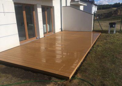 New composite decking terrace on pedestals