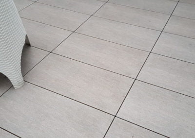 terrace tiles with chair