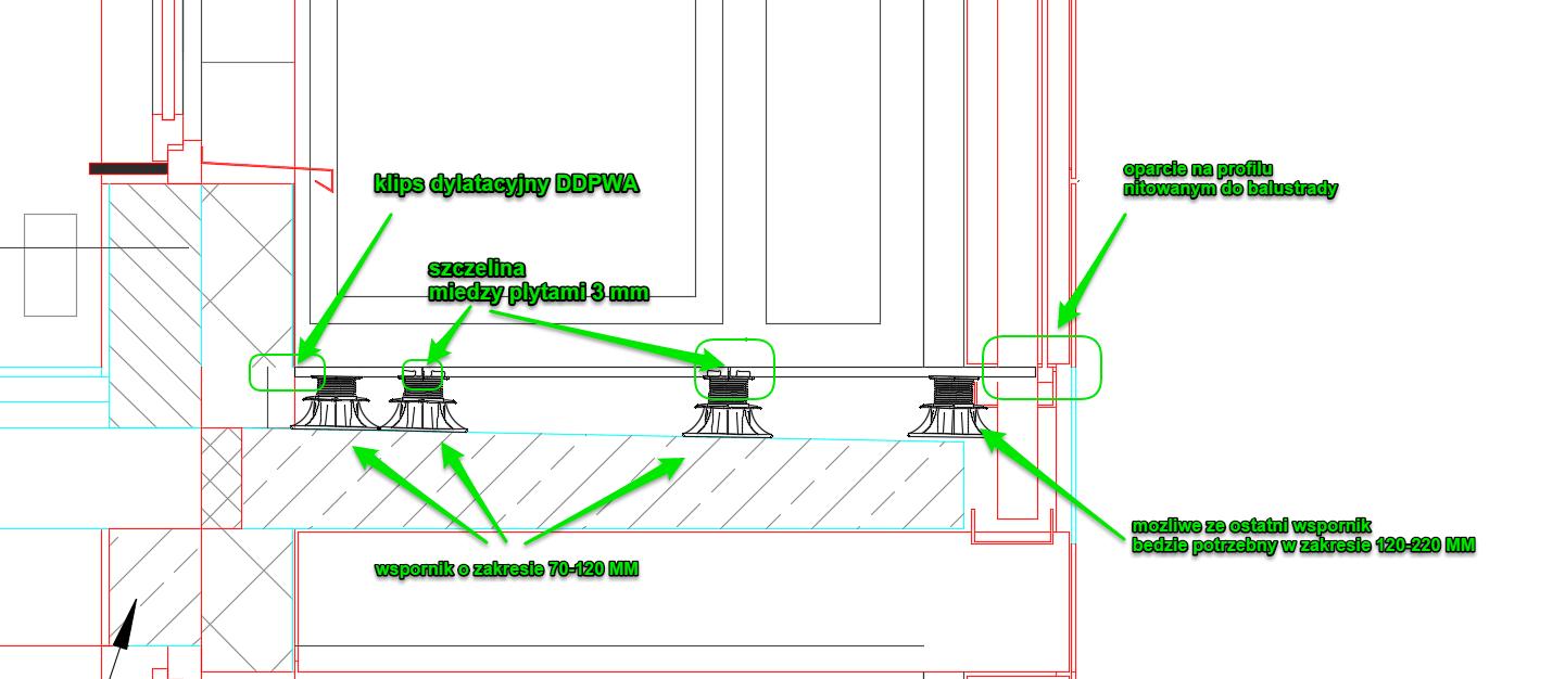 balcony repair on adjustable pedestals