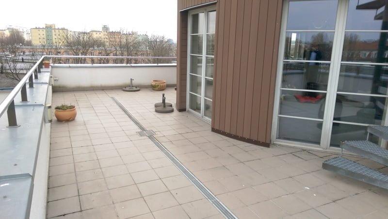 leaking balcony terrace before renovation