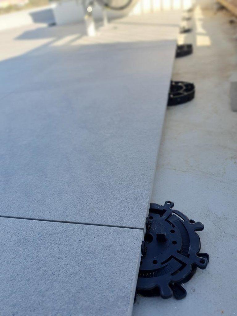 płyty tarasowe doustawiania napodstawkach regulowanych