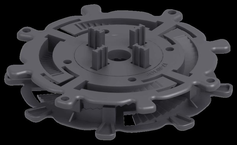 Niskie wsporniki regulowane tarasowe SPIRAL regulacja 17-30 mm