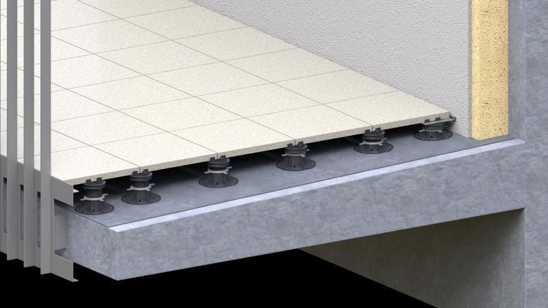 Płyty ceramiczne 2 cm nawsporniku tarasowym regulowanym