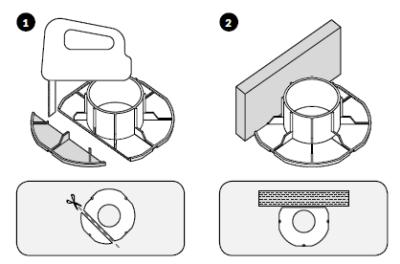 dopasowanie podstawy wspornika dościany prostej