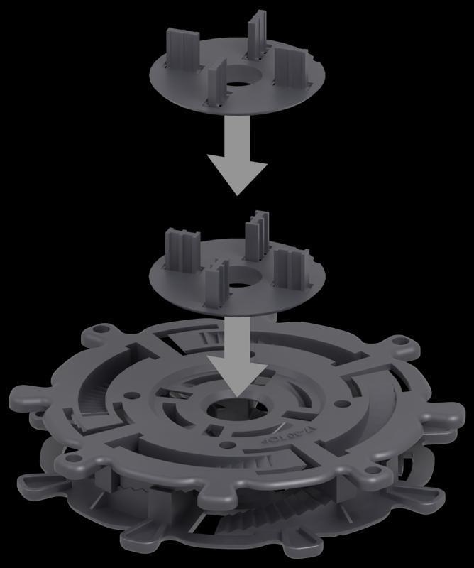 spiralny wspornik tarasowy zdyskiem obrotowym