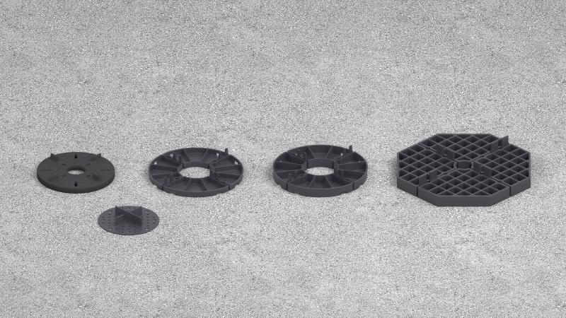podkładki dystansowe pod ceramiczne płyty tarasowe