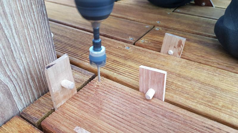 nawiercanie desek drewnianych