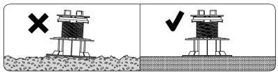 stabilne irówne podłoże podwspornik tarasowy