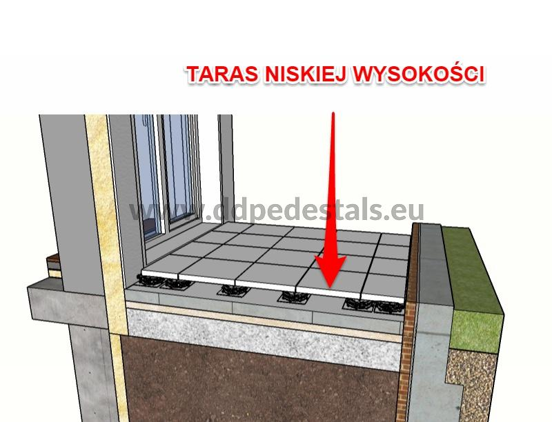 terrace - on supports pads - raised-ventilated-low