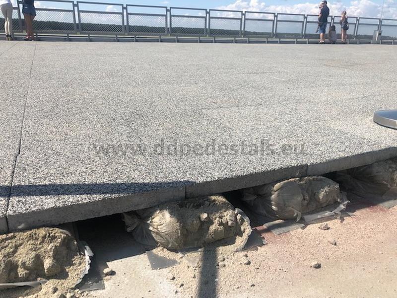 taras wentylowany naworeczkach wypełnionych zaprawą cementową