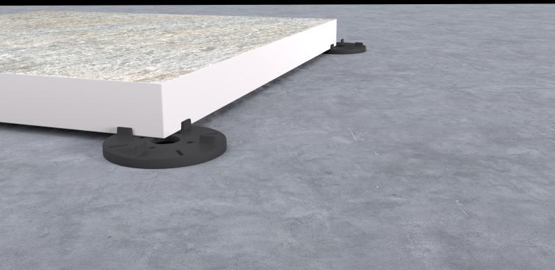 Gummi Plattenlager 8mm für Terrassenplatten