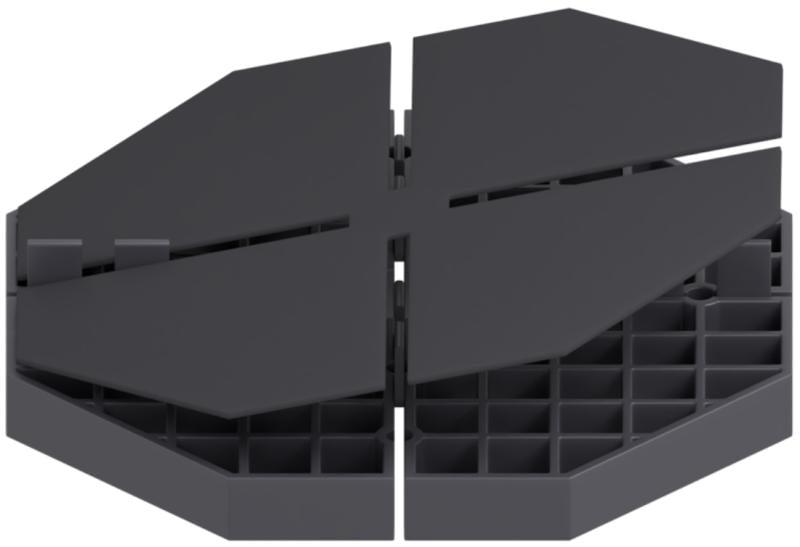 Modulare Gummipads zur Polsterung und Isolierung von Plattenlager mit fester Höhe 16mm