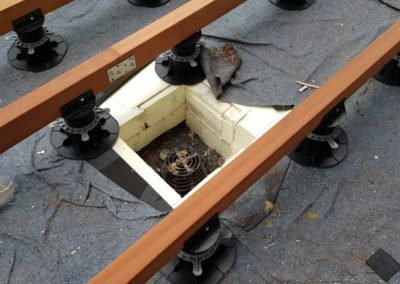 adjustable deck pedestals for construction wooden joists
