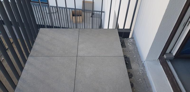 ventilated terrace from ceramic tiles 2 cm