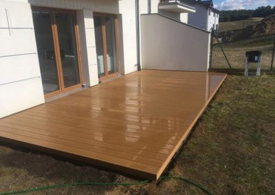 ready composite terrace on the ground