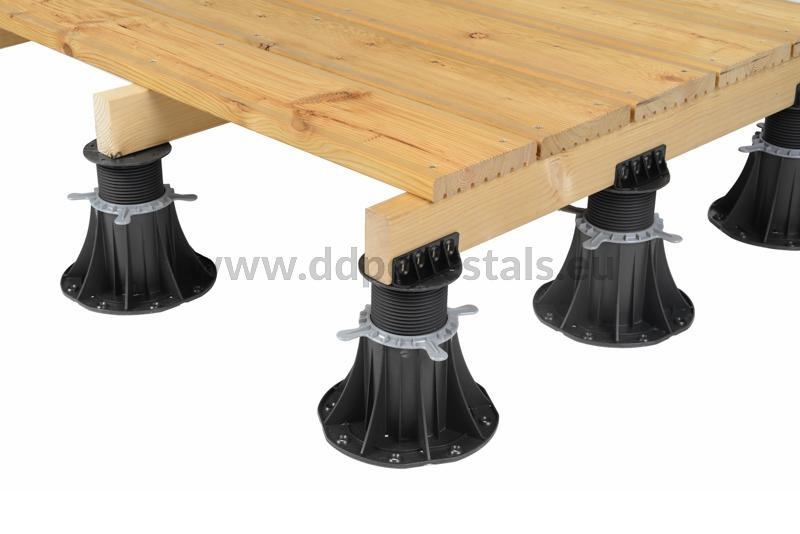 strength of the adjustable pedestals for wooden terrace