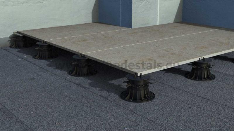 strength of the adjustable pedestals for ceramic terrasse