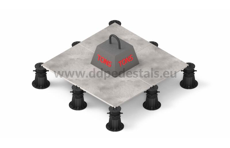 high strength of the adjustable pedestals