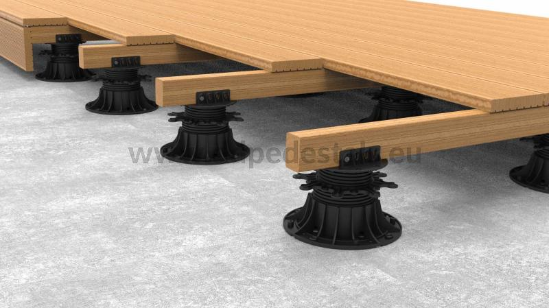 what is the strength of the adjustable pedestals for wooden joists?