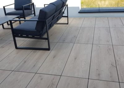 ventilated terrace from 30x120 ceramic tiles