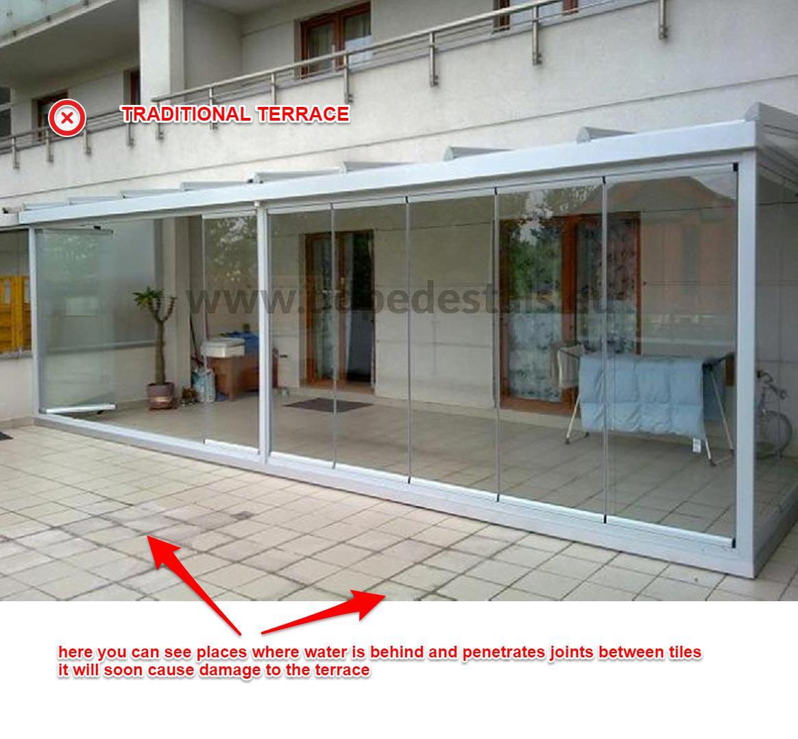 Renovation - terrace - falling - tiles - balcony repair