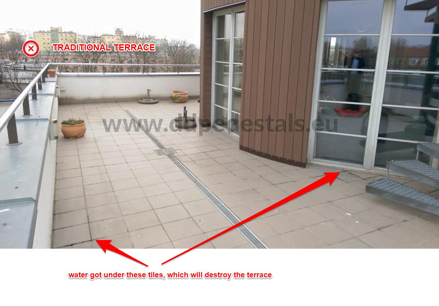 Renovation - terrace - falling - tiles - repair