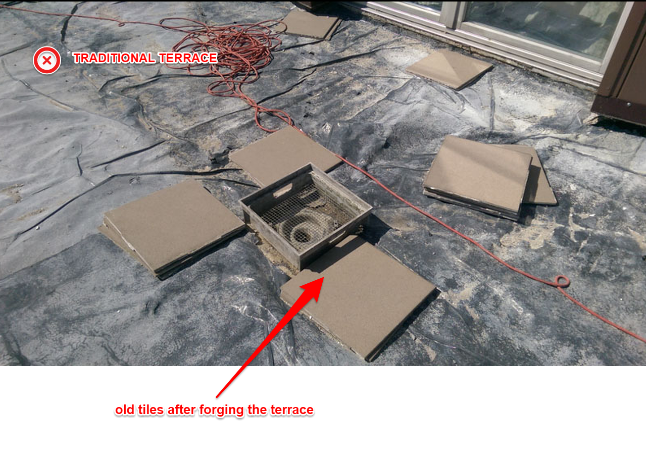 cracking tiles on the terrace joints repair the terrace how to do it