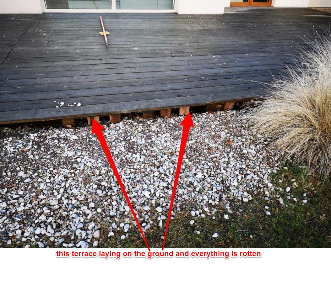 decaying terrace boards terrace repair