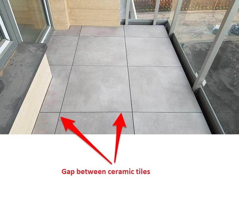 terraces-raised-on adjustable pedestals -gap-between-tiles