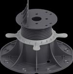 Adjustable pedestals for decking joists