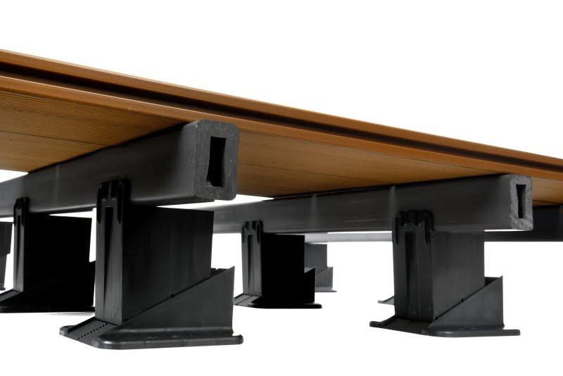 wsporniki regulowane RAPTOR XL z legarem kompozytowym i deską kompozytową