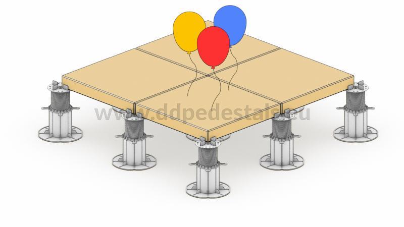 Doppelboden- Terrasse -beluftet-Vorteile-geringeres -Gewicht.