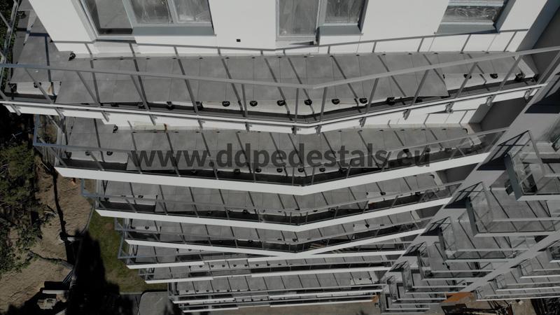 Doppelboden- Terrassen-beluftete Terrassen-Wohnsiedlungen.