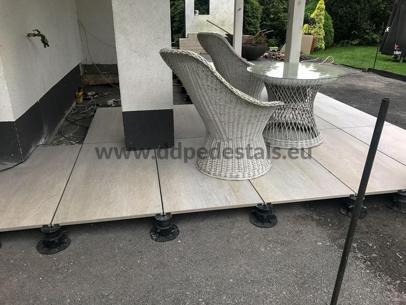 raised terrace ventilated house