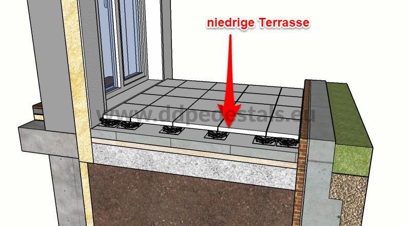 Terrasse-auf Stelzlager-Doppelboden Terrasse-beluftet-gering.