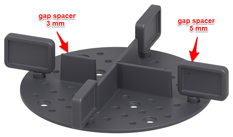 specially attached gap spacers
