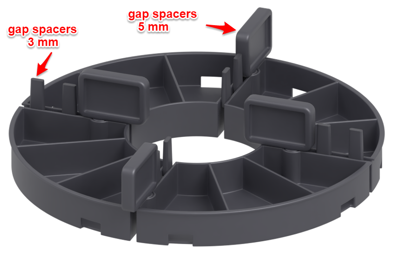 gap spacers 3 mm and 5 mm