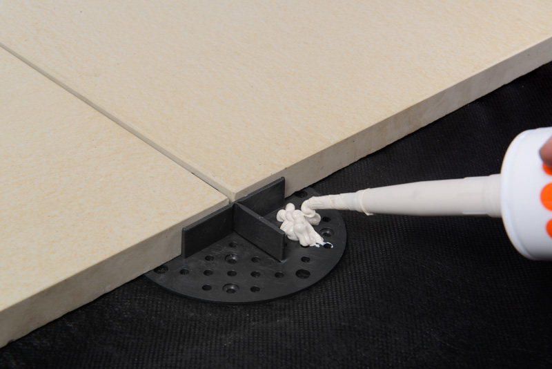 support pads can be glued with ceramic tiles