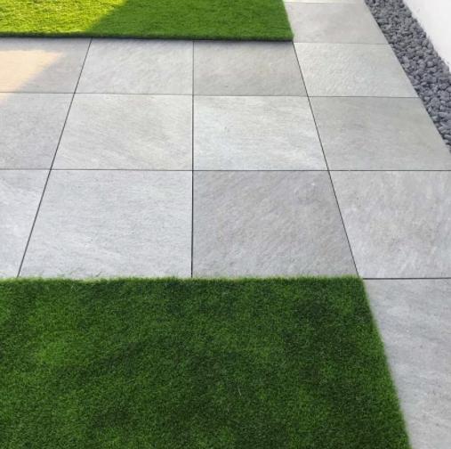 ceramic tiles on the grass