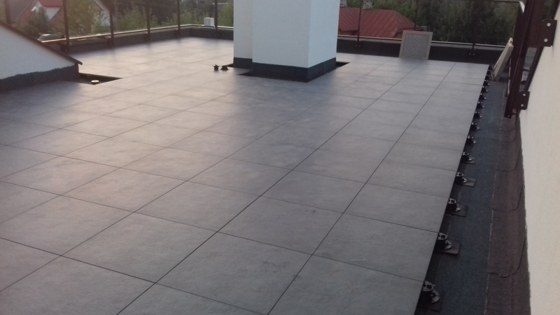 ventilated terrace on the roof